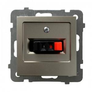 Ospel As GG-1G/m/45 - Gniazdo głośnikowe pojedyncze - Satyna Light - Podgląd zdjęcia producenta