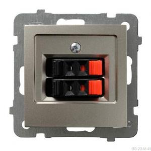 Ospel As GG-2G/m/45 - Gniazdo głośnikowe podwójne - Satyna Light - Podgląd zdjęcia producenta