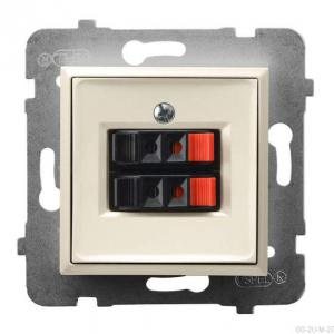 Ospel Aria GG-2U/m/27 - Gniazdo głośnikowe podwójne - Ecru - Podgląd zdjęcia producenta