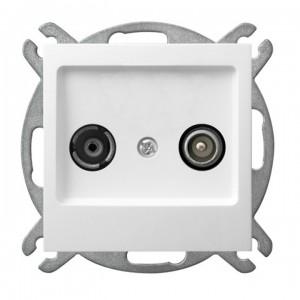 Ospel As GPA-10GP/m/00 - Gniazdo RTV przelotowe 10-dB - Biały - Podgląd zdjęcia producenta