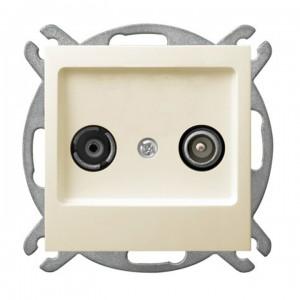 Ospel As GPA-10GP/m/27 - Gniazdo RTV przelotowe 10-dB - Ecru - Podgląd zdjęcia producenta