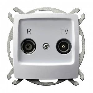 Ospel Karo GPA-10SP/m/00 - Gniazdo RTV przelotowe 10-dB - Biały - Podgląd zdjęcia producenta