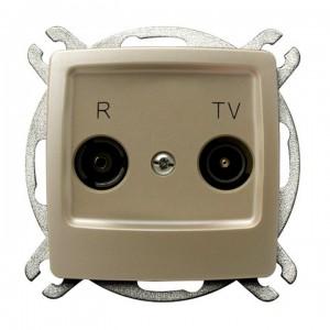Ospel Karo GPA-10SP/m/42 - Gniazdo RTV przelotowe 10-dB - Ecru perłowy - Podgląd zdjęcia producenta