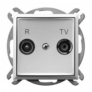 Ospel Aria GPA-10UP/m/00 - Gniazdo RTV przelotowe 10-dB - Biały - Podgląd zdjęcia producenta