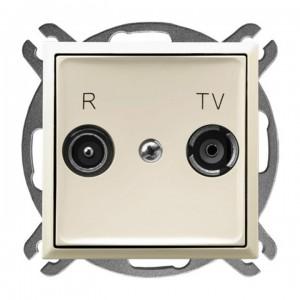 Ospel Aria GPA-10UP/m/27 - Gniazdo RTV przelotowe 10-dB - Ecru - Podgląd zdjęcia producenta