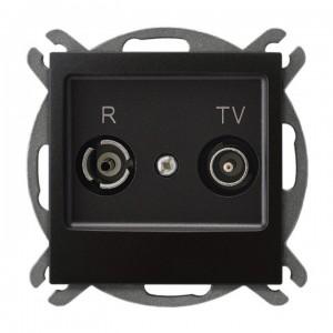 Ospel Impresja GPA-14YP/m/50 - Gniazdo RTV przelotowe 14-dB - Antracyt - Podgląd zdjęcia producenta