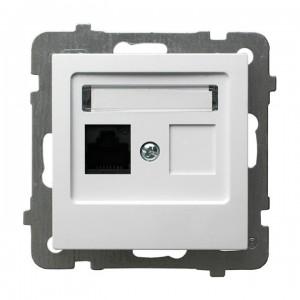 Ospel As GPK-1G/K/m/00 - Gniazdo komputerowe pojedyncze, kat. 5e MMC - Biały - Podgląd zdjęcia producenta