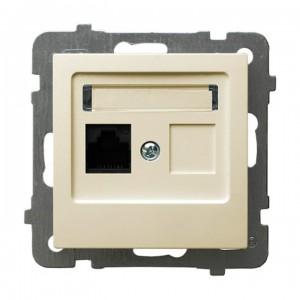 Ospel As GPK-1G/K/m/27 - Gniazdo komputerowe pojedyncze, kat. 5e MMC - Ecru - Podgląd zdjęcia producenta