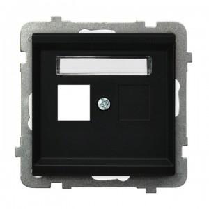 Ospel Sonata GPK-1R/p/33 - Obudowa gniazda pojedynczego typu Keystone prosta - Czarny Metalik - Podgląd zdjęcia producenta