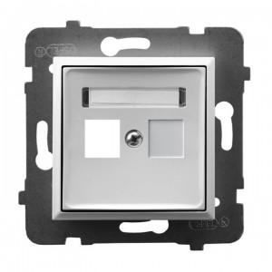 Ospel Aria GPK-1U/p/00 - Obudowa gniazda pojedynczego typu Keystone prosta - Biały - Podgląd zdjęcia producenta
