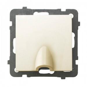 Ospel As GPPK-1G/m/27 - Przyłącze kablowe - Ecru - Podgląd zdjęcia producenta