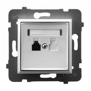 Ospel Aria GPT-1U/m/00 - Gniazdo telefoniczne pojedyncze - Biały - Podgląd zdjęcia producenta