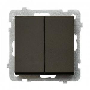 Ospel Sonata ŁP-10R/m/40 - Łącznik schodowy podwójny 16A - Czekoladowy Metalik - Podgląd zdjęcia producenta
