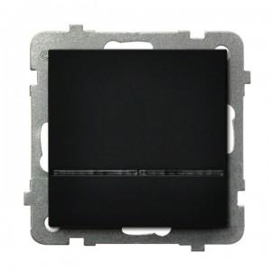 Ospel Sonata ŁP-1RS/m/33 - Łącznik pojedynczy z podświetleniem w kolorze Niebieskim 16A - Czarny Metalik - Podgląd zdjęcia producenta