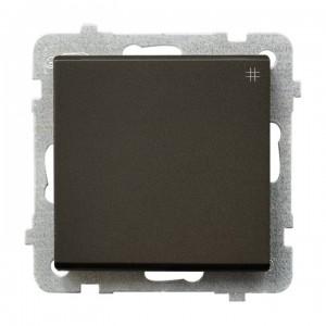 Ospel Sonata ŁP-4R/m/40 - Łącznik krzyżowy 16A - Czekoladowy Metalik - Podgląd zdjęcia producenta