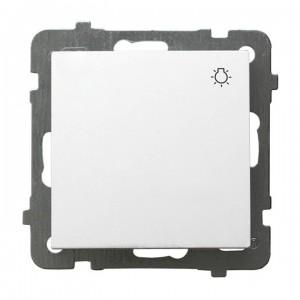 Ospel As ŁP-5G/m/00 - Przycisk zwierny z symbolem światła 10A - Biały - Podgląd zdjęcia producenta