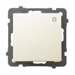 Ospel As ŁP-5G/m/27 - Przycisk zwierny z symbolem światła 10A - Ecru - Podgląd zdjęcia producenta