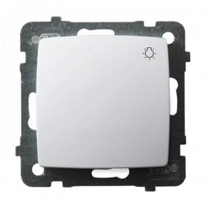 Ospel Karo ŁP-5S/m/00 - Przycisk zwierny z symbolem światła 10A - Biały - Podgląd zdjęcia producenta