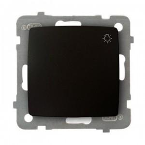 Ospel Karo ŁP-5S/m/40 - Przycisk zwierny z symbolem światła 10A - Czekoladowy Metalik - Podgląd zdjęcia producenta