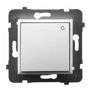 Ospel Aria ŁP-5U/m/00 - Przycisk zwierny z symbolem światła 10A - Biały - Podgląd zdjęcia producenta