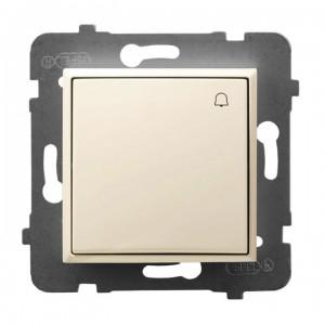 Ospel Aria ŁP-6U/m/27 - Przycisk zwierny dzwonkowy 10A - Ecru - Podgląd zdjęcia producenta