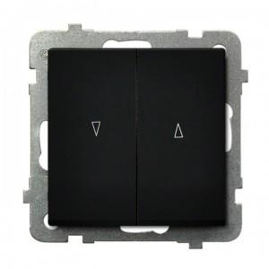 Ospel Sonata ŁP-7RB/m/33 - Łącznik żaluzjowy 10A - Czarny Metalik - Podgląd zdjęcia producenta