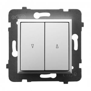 Ospel Aria ŁP-7U/m/00 - Przycisk żaluzjowy 10A - Biały - Podgląd zdjęcia producenta