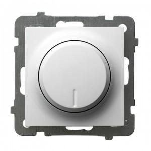 Ospel As ŁP-8G/m/00 - Ściemniacz naciskowo-obrotowy 40-400W (Nie współpracuje z LED!) - Biały - Podgląd zdjęcia producenta