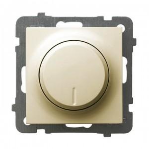 Ospel As ŁP-8G/m/27 - Ściemniacz naciskowo-obrotowy 40-400W (Nie współpracuje z LED!) - Ecru - Podgląd zdjęcia producenta