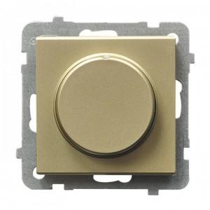 Ospel Sonata ŁP-8RL2/m/39 - Ściemniacz do LED - Uniwersalny 0-100W - Szampański Złoty - Podgląd zdjęcia producenta