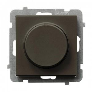 Ospel Sonata ŁP-8R/m/40 - Ściemniacz naciskowo-obrotowy 40-400W (Nie współpracuje z LED!) - Czekoladowy Metalik - Podgląd zdjęcia producenta