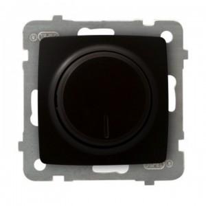 Ospel Karo ŁP-8S/m/40 - Ściemniacz naciskowo-obrotowy 40-400W (Nie współpracuje z LED!) - Czekoladowy Metalik - Podgląd zdjęcia producenta