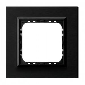 Ospel Sonata R-1RAC/64/25 - Ramka pojedyncza Metalowa - Szczotkowany Antracyt (4mm) - Podgląd zdjęcia producenta