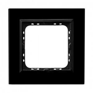Ospel Sonata R-1RGC/32/25 - Ramka pojedyncza Szklana - Czarne Szkło (4mm) - Podgląd zdjęcia producenta