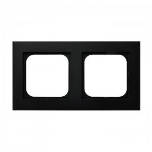 Ospel Sonata R-2R/33 - Ramka podwójna - Czarny Metalik - Podgląd zdjęcia producenta
