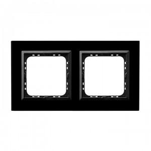 Ospel Sonata R-2RGC/32/25 - Ramka podwójna Szklana - Czarne Szkło (4mm) - Podgląd zdjęcia producenta