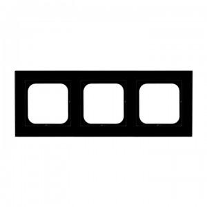 Ospel Sonata R-3RG/32 - Ramka potrójna Szklana - Czarne Szkło (6mm) - Podgląd zdjęcia producenta