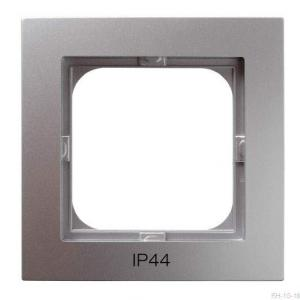 Ospel As RH-1G/18 - Ramka pojedyncza do łączników IP-44 - Srebro - Podgląd zdjęcia producenta