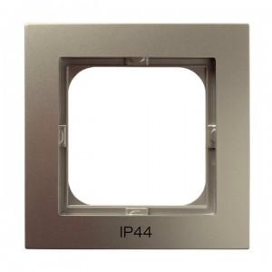 Ospel As RH-1G/45 - Ramka pojedyncza do łączników IP-44 - Satyna Light - Podgląd zdjęcia producenta