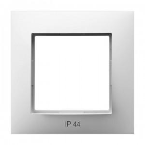 Ospel Aria RH-1U/00 - Ramka pojedyncza do łączników IP-44 - Biały - Podgląd zdjęcia producenta
