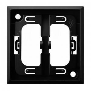 Ospel Aria RO-1U/33 - Pierścień ozdobny wewnętrzny do łączników 1 i 2-klawiszowych - Czarny Metalik - Podgląd zdjęcia producenta