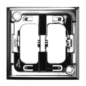 Ospel Aria RO-1U/67 - Pierścień ozdobny wewnętrzny do łączników 1 i 2-klawiszowych - Srebro Błysk - Podgląd zdjęcia producenta