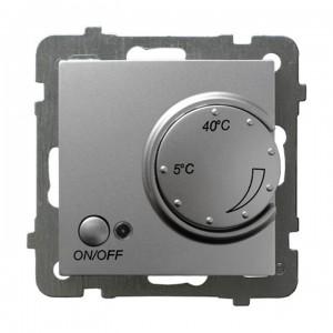 Ospel As RTP-1GN/m/18 - Regulator temperatury z czujnikiem wewnętrznym, pokojowy - Srebro - Podgląd zdjęcia producenta
