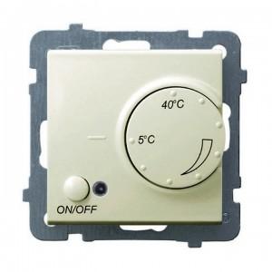 Ospel As RTP-1GN/m/27 - Regulator temperatury z czujnikiem wewnętrznym, pokojowy - Ecru - Podgląd zdjęcia producenta