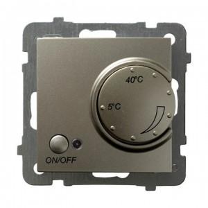 Ospel As RTP-1GN/m/45 - Regulator temperatury z czujnikiem wewnętrznym, pokojowy - Satyna Light - Podgląd zdjęcia producenta