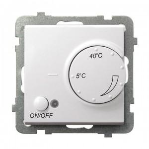 Ospel Sonata RTP-1R/m/00 - Regulator temperatury z czujnikiem zewnętrznym, sonda w zestawie - Biały - Podgląd zdjęcia producenta