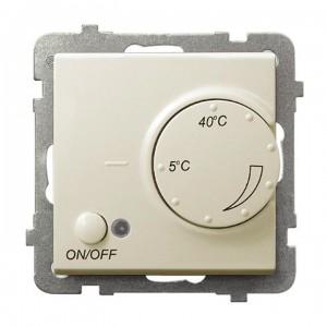 Ospel Sonata RTP-1RN/m/27 - Regulator temperatury z czujnikiem wewnętrznym, pokojowym - Ecru - Podgląd zdjęcia producenta