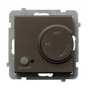 Ospel Sonata RTP-1RN/m/40 - Regulator temperatury z czujnikiem wewnętrznym, pokojowym - Czekoladowy Metalik - Podgląd zdjęcia producenta