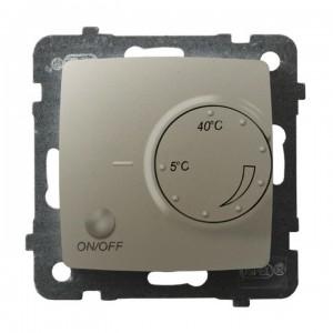 Ospel Karo RTP-1S/m/42 - Regulator temperatury z czujnikiem zewnętrznym, sonda w zestawie - Ecru perłowy - Podgląd zdjęcia producenta