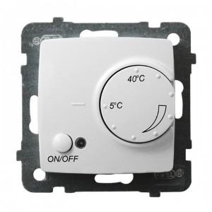 Ospel Karo RTP-1SN/m/00 - Regulator temperatury z czujnikiem wewnętrznym, pokojowy - Biały - Podgląd zdjęcia producenta